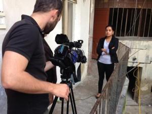 Foto z natáčení pro Českou televizi