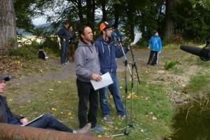 Foto z natáčení.